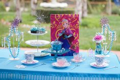 Frozen birthday tea party! See more party ideas at CatchMyParty.com!