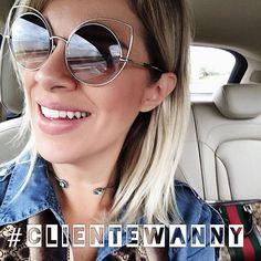 Domingão é dia de postar as lindas selfies das nossas clientes  #clientewanny #marcjacobs #oticaswanny