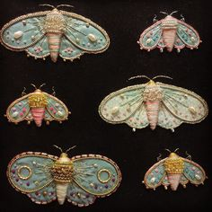 Moths for brooches by zoomy