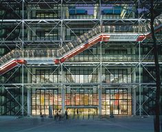 Archive photography from Renzo Piano and Richard Rogers shows the Centre Pompidou in Paris, celebrating its 40th birthday.
