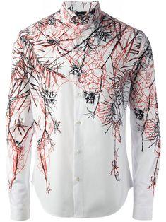Mcq By Alexander Mcqueen Camisa Estampada Branca - Twist'n'scout - Farfetch.com