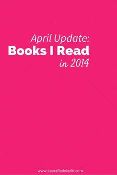2014 - Books Read - April Update