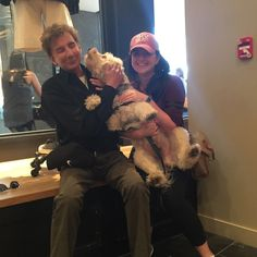 Barry and Running With Riley (Australian Labradoodle) somewere in NYC 6/2015.  (And of course, Riley's hooman.)