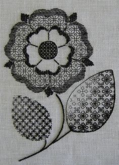 If you want to find a real art in everyday life blackwork embroidery is a great example. It's unimaginable what you can do with a needle and a thread! Here is the result of my search with useful links and photos on blackwork needlework. Blackwork Cross Stitch, Blackwork Embroidery, Learn Embroidery, Hand Embroidery Stitches, Hand Embroidery Designs, Embroidery Techniques, Cross Stitching, Cross Stitch Embroidery, Embroidery Ideas