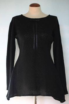 Mini abito/maglia nero con maniche lunghe/ abitino corto/