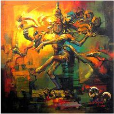 nataraja abstract paintings - Google Search Shiva Art, Shiva Shakti, Hindu Art, Rudra Shiva, Saraswati Goddess, Shiva Hindu, Dance Paintings, Indian Art Paintings, Mural Painting
