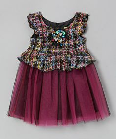 Take a look at this Pink Tweed Tulle Dress - Toddler & Girls by Little Mass on #zulily today!
