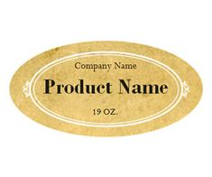 Rustic Vintage Adhesive Label: Get this free, printable, customizable template from YourTemplateFinder.com