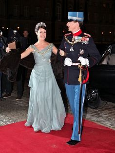 Princess Marie and Prince Joachim attend the 2011 New Years Court.