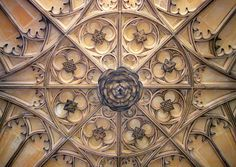 The ceiling of Anne Boleyn's Gateway, Hampton Court Palace. The beautiful ceiling of Anne Boleyn's Gateway.