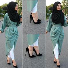 Modern Hijab Fashion, Islamic Fashion, Muslim Fashion, Hijab Gown, Hijab Outfit, Stylish Hijab, Hijab Chic, Girl Fashion, Fashion Dresses