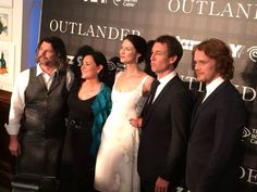 @PageToPremiere: Cast, author, and producer of @Outlander_Starz walking the carpet at their New York premiere at the @92y. #Outlander