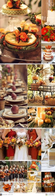 In celebration of the first day of fall, some beautiful fall wedding inspiration to inspire the autumn bride!
