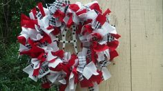 "12"" Alabama Crimson Tide - College Spirit Rag Wreath - Alabama"
