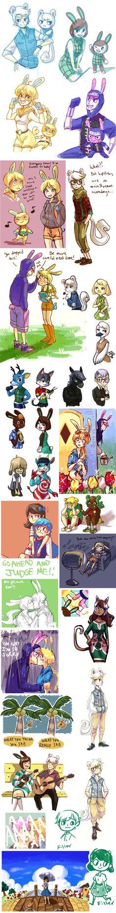 talking animal soap opera by Timidemerald.deviantart.com on @deviantART (Animal Crossing)
