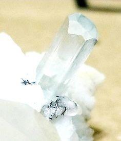 Aquamarine - Crystal Clear Beryl Mineral Specimen - Quartz Point, Feldspar & Albite - - Gemstone Museum Grade - Display, Meditation Gem by on Etsy Minerals For Sale, Aquamarine Crystal, Crystal Cluster, Meditation, Rocks, Quartz, Museum, Display, Jewels