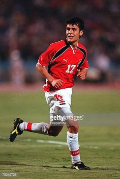Football 2002 World Cup Qualifier African Second Round Group C 6th May 2001 Cairo Egypt 1 v Senegal 0 Egypt's Ahmed Hassan