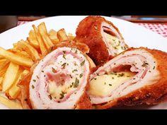 Cordon Blue ~ Rántott petrezselyem világbajnok étel ! @Szoky konyhája - YouTube Coron, Pork Dishes, Cordon Bleu, Eggs, Meat, Breakfast, Youtube, Recipes, Beverages
