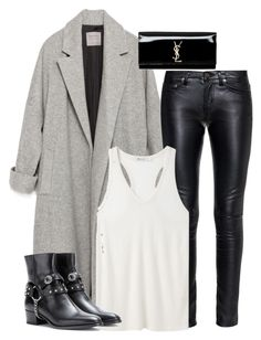 """""""Untitled #1976"""" by charmandurp ❤ liked on Polyvore featuring Zara, Yves Saint Laurent and T By Alexander Wang"""