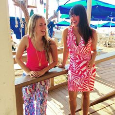 Sam and Faith are having a blast at Sandestin in their new Lilly Pulitzer outfits! We <3 the colors!