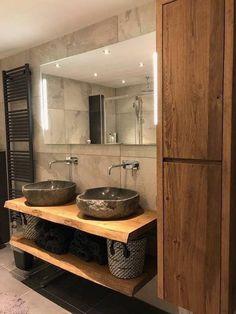 Restaurant Bad, Restaurant Bathroom, Bad Inspiration, Bathroom Inspiration, Modern Bathroom Design, Bathroom Interior Design, Small Bathroom Storage, Shower Storage, Bathroom Colors