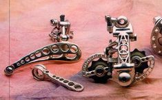 VMB Vintage (classic style) modern bikes and custom parts (drillium, WW. Vintage Bicycle Parts, Velo Vintage, Vintage Cycles, Vintage Bikes, Bicycle Art, Bicycle Design, Cool Bicycles, Cool Bikes, Bicycle Garage