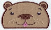 Peeking Sea Otter Applique Embroidered Patch