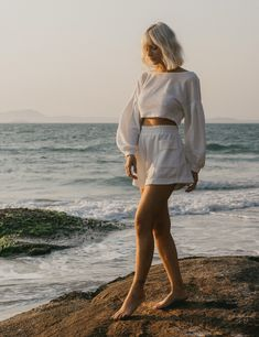 Off White, Office Looks, Beach Photos, Shorts, Cover Up, Bell Sleeve Top, Mini Skirts, My Style, Photography