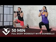 50 Min Full Body Workout with Dumbbells - Total Body Strength Workout with Weights at Home Training - YouTube