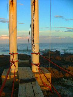 Mazeppa Bay Suspension Bridge photography by AfricanGranny on Etsy