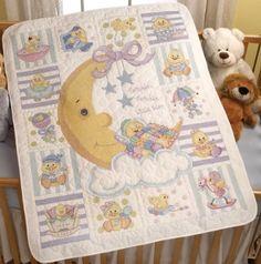 crossstitch baby girl blankets | Janlynn Butterfly Quilt Stamped ... : bucilla cross stitch baby quilts - Adamdwight.com