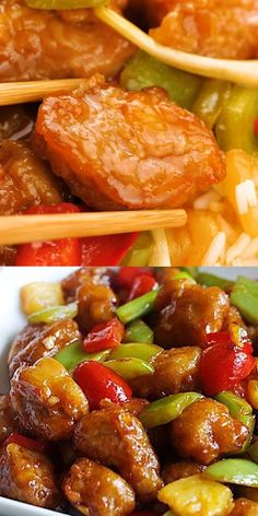 Homemade Chinese Food, Easy Chinese Recipes, Asian Recipes, Mexican Food Recipes, Sweet N Sour Pork Recipe, Sweet And Sour Sauce Recipe Chinese, Sweet And Sour Beef, Sweet And Sour Recipes, Amazing Food Videos