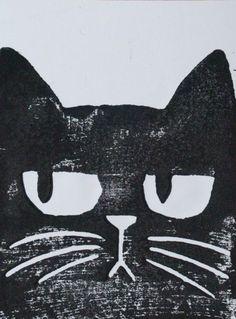 I Love Cats, Crazy Cats, Cool Cats, Graphic Design Illustration, Illustration Art, Black Cat Art, Mundo Animal, Cat Drawing, Pet Birds