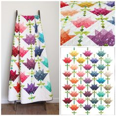 Ombre Flower Bouquet by V and Co. from Purple Daisies Quilting Dainty, fun blooms make this quilt perfect for any lover of flowers. The Ombre Bloom fabric is the perfect choice for making your own Ombre Flower Bouquet. Materials needed: Jellyroll Quilts, Patchwork Quilting, Scrappy Quilts, Baby Quilts, Crazy Quilting, Crazy Patchwork, Blog Art, Ombre Fabric, Quilt Modernen