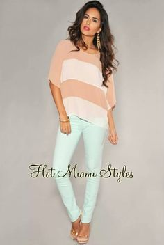 Love this casual look Hot Miami Styles