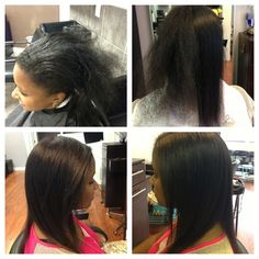 Coiffure - Boston Hairnista Salon before and after keratin treatment