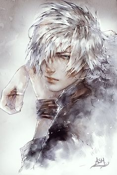 (Need help developing this character) Vayne is a young elf with pure white hair and ice blue eyes. His mother died when he was just a child, left to be raised by his father. Your character finds him out in the lake, wading ankle deep and staring down into the water looking very concentrated.