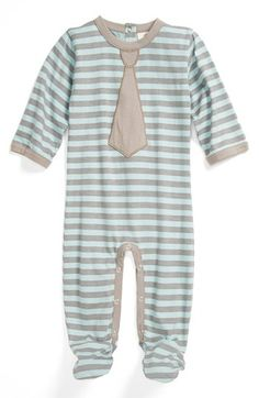 Kate Quinn Organics Tie  One-Piece (Baby Boys) available at #Nordstrom