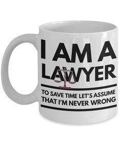 Lawyer Mug - Funny Lawyer Coffee Mug - Lawyer Gift Idea - I'm A Lawyer Mug - Funny Law Mug by AmendableMugs on Etsy