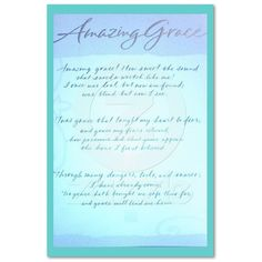 Amazing Grace- my all time favorite gospel song,