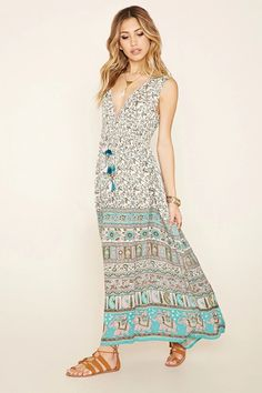 Raga Elephant Print Maxi Dress #thelatest