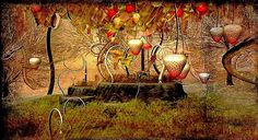 Strawberrys - image by RheaChoral - #secondlife #art -