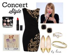 """""""Taylor on Tour"""" by coolmommy44 ❤ liked on Polyvore featuring Christian Louboutin, Chanel, Fragments, River Island, David Yurman, concert, taylorswift and taylorontour"""