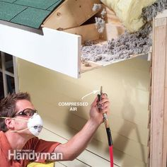 How to Clean Soffit Vents: The best way to clean soffit vents is with compressed air Read more: http://www.familyhandyman.com/roof/how-to-clean-soffit-vents/view-all