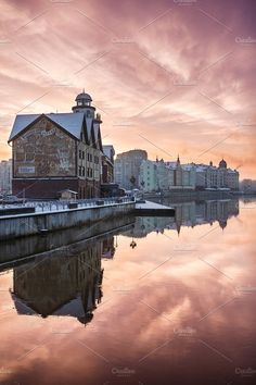 The Fishing Village in Kaliningrad, Russia. Architecture Photos
