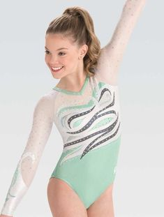 DoGeek Gymnastics Leotards for Girls Gradient Color Sparkle Leotard Dance Ballet(Choose one Size up