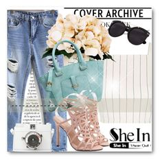 """""""Sheinside !!"""" by dianagrigoryan ❤ liked on Polyvore featuring Topshop and Creative Displays"""