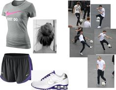 """""""Playing soccer with One Directionn 3 :3"""" by mrs-stypayyhorklinson ❤ liked on Polyvore"""