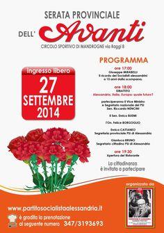 """27 Settembre 2014 """"Serata Provinciale dell'Avanti"""""""