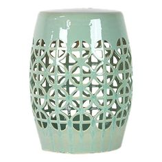 Ceramic garden stool with openwork detail. Product: Garden stoolConstruction Material: CeramicColor: ...
